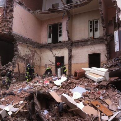 Crolla palazzina in Via Crispi, attivata emergenza al Garibaldi