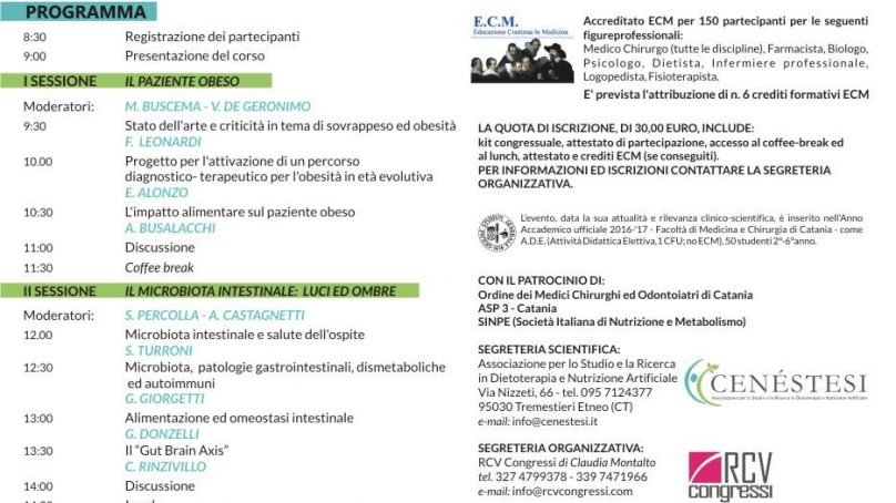 Le Giornate Catanesi sulla malnutrizione clinica