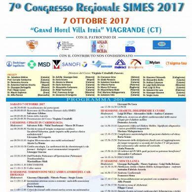 A Viagrande il 7 Ottobre Congresso regionale  SIMES (Specialisti del territorio)