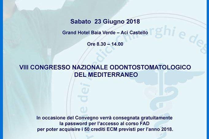 Congresso Mediterraneo di Odontostomatologia il 23 Giugno