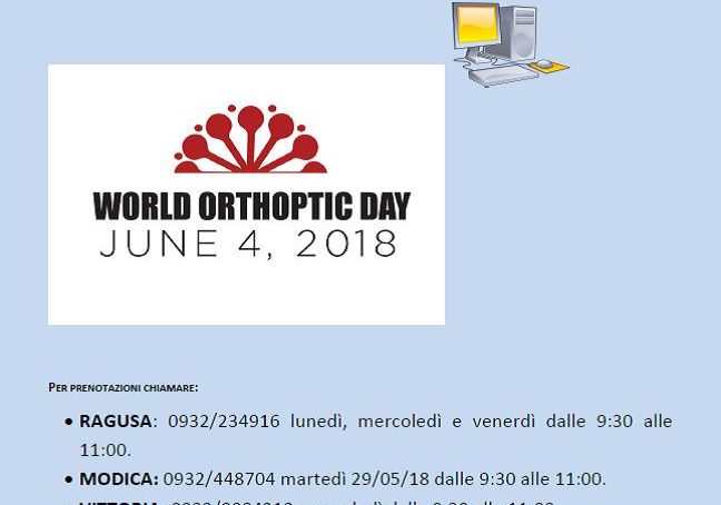 """World Orthoptic day"" a Ragusa"