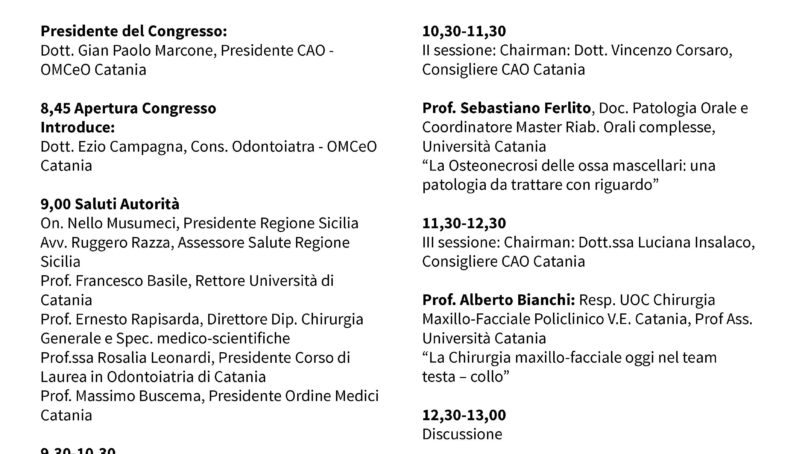 Alla  Baia Verde il 23 Giugno VIII Congresso Odontostomatologico del Mediterraneo