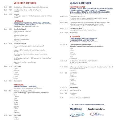 Meeting sulla patologia aortica il 5 e 6 Ottobre