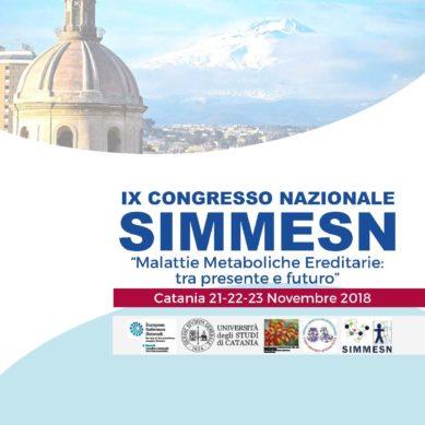 Dal 21 al 23 Novembre a Catania il Congresso SIMMESN