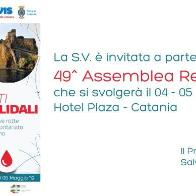 Assemblea regionale AVIS a Catania 4/5 Maggio