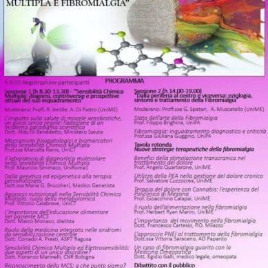 MCS e Fibromialgia, convegno a Messina il 17 Maggio