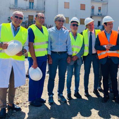 Razza visita il cantiere del nuovo PS del Garibaldi Centro
