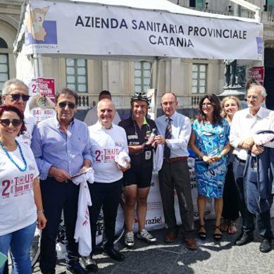 Trapiantato fa il Giro di Sicilia in bici