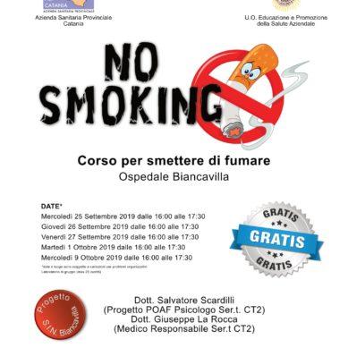 Biancavilla, terza edizione del corso ASP per smettere di fumare