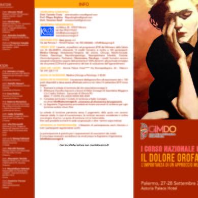 Corso sul dolore orofacciale il 27-28 Settembre a Palermo