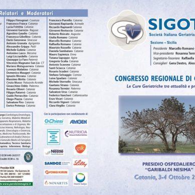 Congresso regionale di Geriatria il 3-4 Ottobre