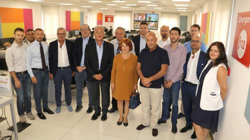"""Cannizzaro, delegazione bulgara alla Centrale """"112"""""""