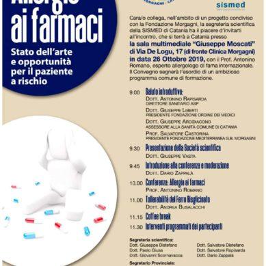 Meeting sulle allergie ai farmaci il 26 Ottobre alla Morgagni