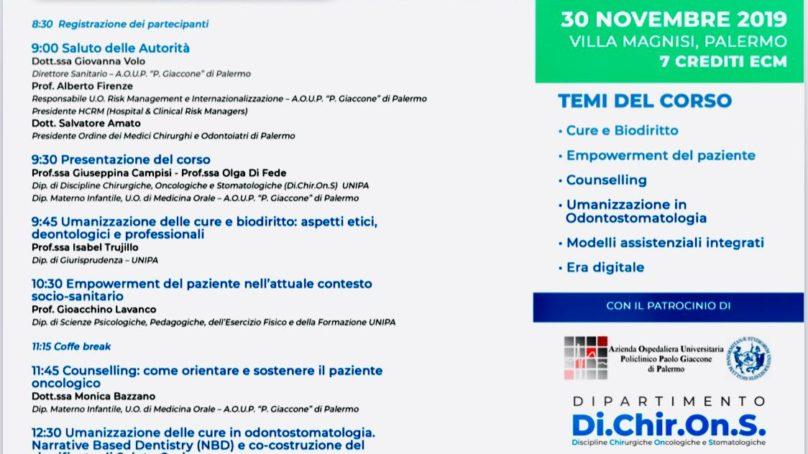 Il 30 Novembre a Palermo per parlare di cure e biodiritti