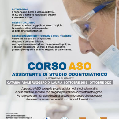 Assistenti odontoiatrici (ASO): aperte le iscrizioni all'Ordine dei corsi obbligatori