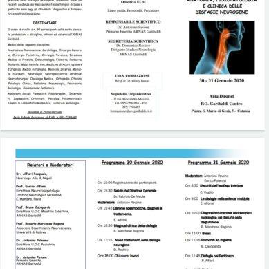"""Corso al """"Garibaldi"""" sulle disfagie neurogene il 30/31 Gennaio"""