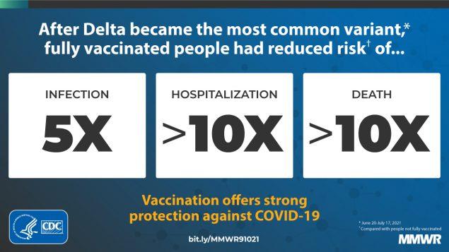 Il vaccino anti-Covid-19 protegge anche dalla variante Delta: lo conferma uno studio della CDC